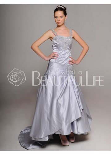 Silver wedding dresses 25th wedding anniversary ideas for Dress for 25th wedding anniversary