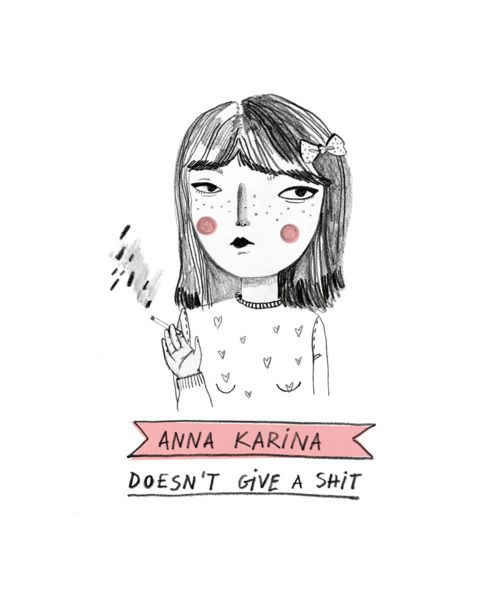 """Anna Karina doesn't give a shit"" by Raquel Gonzalez"