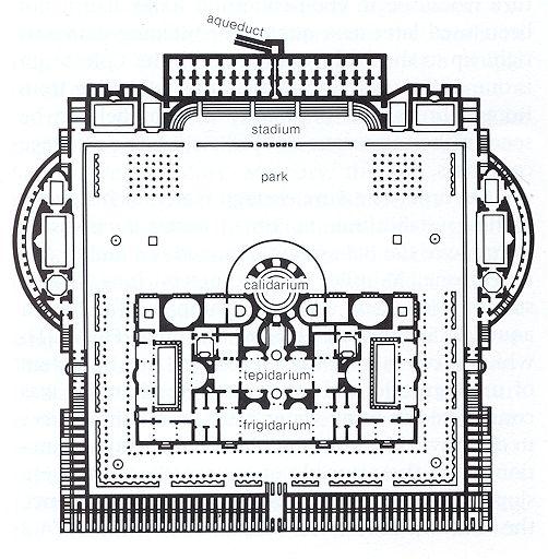 baths of caracalla plans art history pinterest