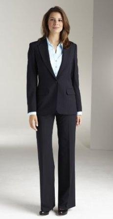 Simon Jersey Ladies Navy Duo Stripe Wool Mix One Button Suit Jacket 28 FJ1060,£20.99