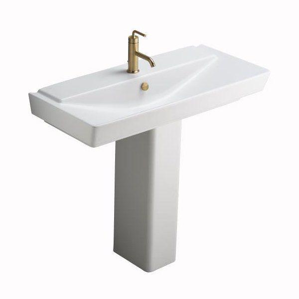 Kohler Reve Semipedestal Pedestal Sink Bathroom Sinks