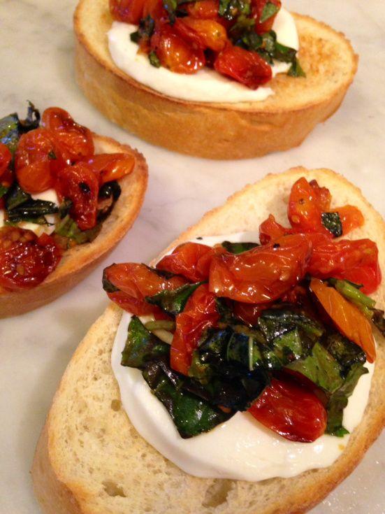 Roasted Tomato Bruschetta   Chef Status   Pinterest