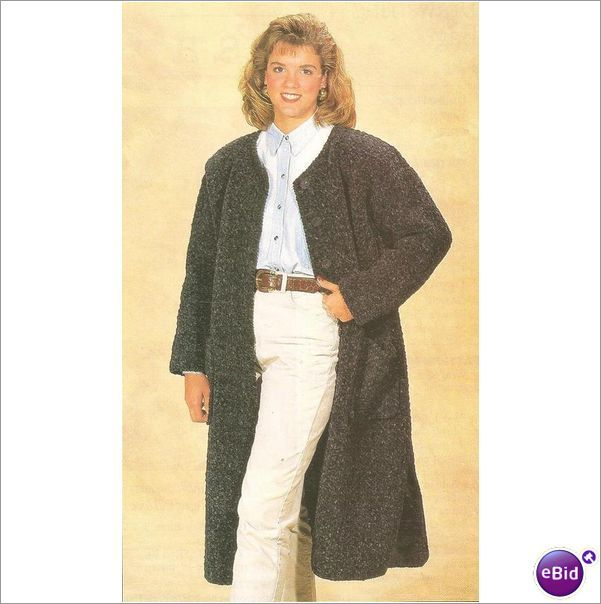 Free Crochet Patterns For Long Jackets : Crochet Coat Pattern Long Coat on eBid United States