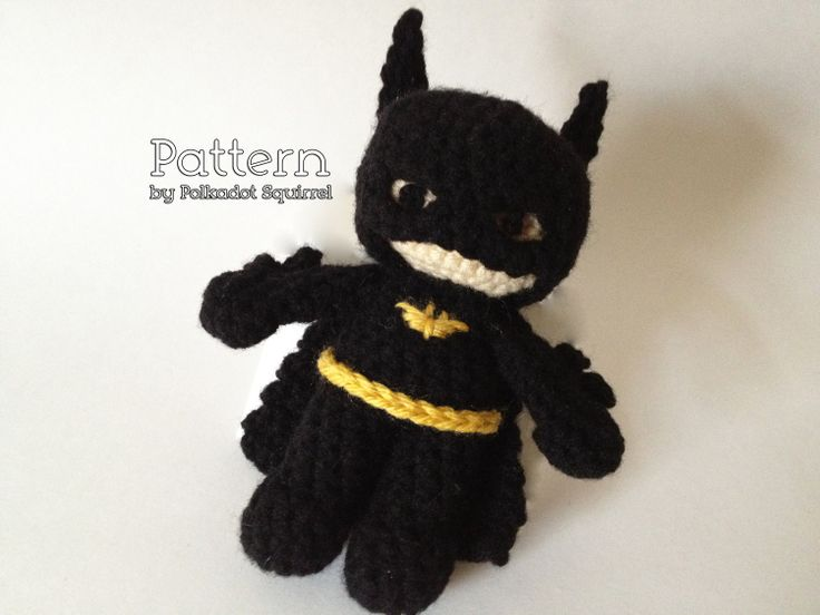 Amigurumi Crochet Batman : PATTERN to make a Batman Inspired Amigurumi Super Hero ...
