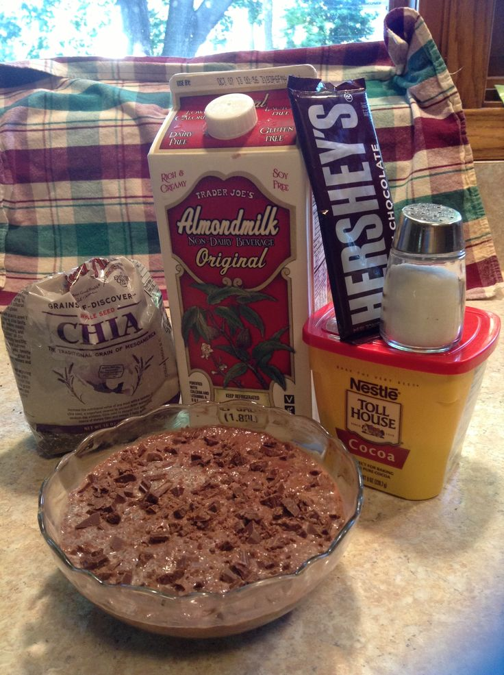 Easy vegan chocolate pudding! The chia seeds absorb the liquid and ...
