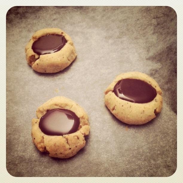 Chocolate Hazelnut Thumbprint Cookies | Cookies | Pinterest