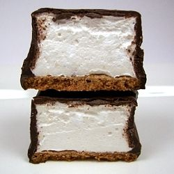Mallowmores - homemade graham cracker base topped with a fluffy light ...