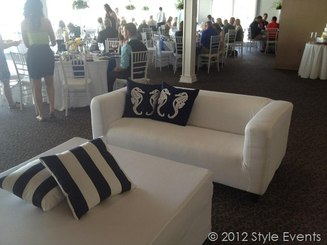Nautical themed wedding lounge