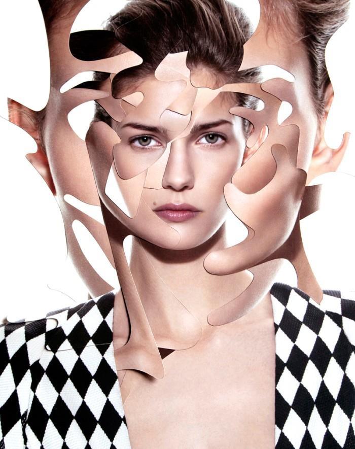 + Moda :     Belíssimo trabalho de fotomontagem por Damien Blottière, para a Vogue (Paris, março 2013).