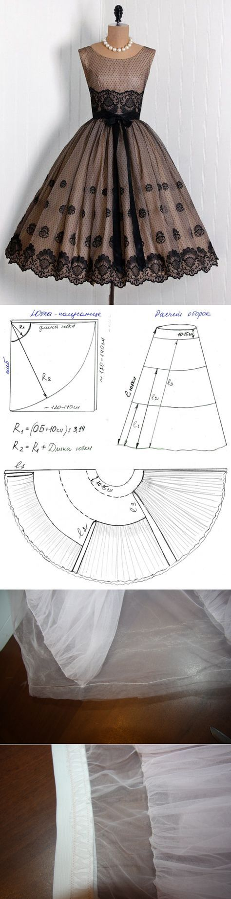Как правильно сшить юбку из сетки 27