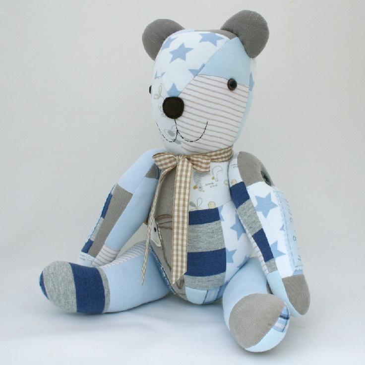 Baby clothes keepsake bears