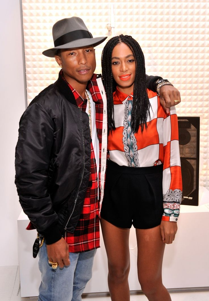 Stylish people stick together. Pharrell Williams and Solange Knowles attend eBay's Future of Shopping event on Oct. 22 in New York