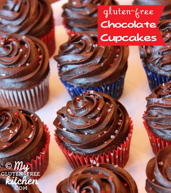 Chocolate Cupcakes with Fudge Frosting {Gluten-free} - I made these ...