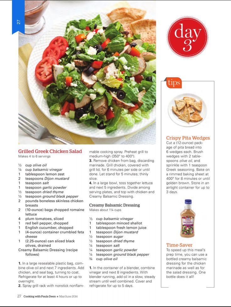 Grilled Greek Salad   Salad recipes   Pinterest