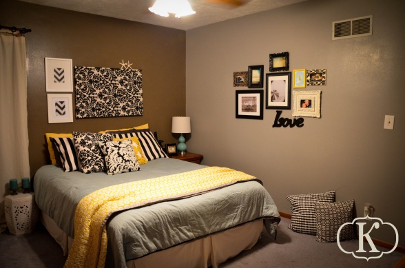 Gray yellow turquoise bedroom bedrooms pinterest for Bedroom yellow and grey