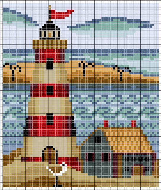 Схемы вышивок крестом маяк 966