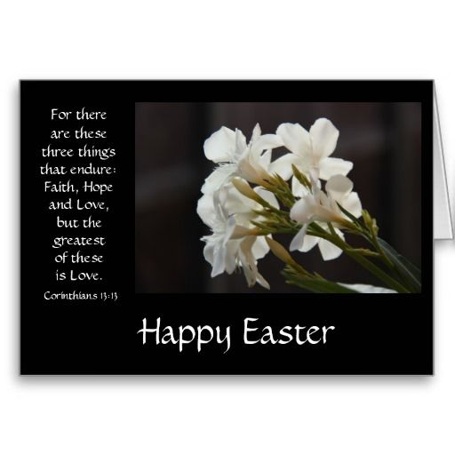 easter card floral bible verse about love