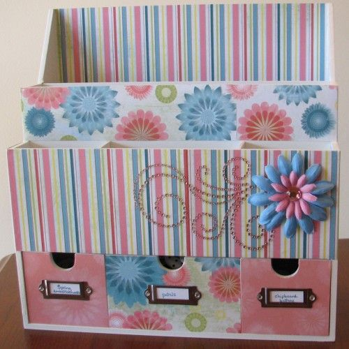 Cute desk organizer scrap tutorials pinterest - Cute desk organizer ...