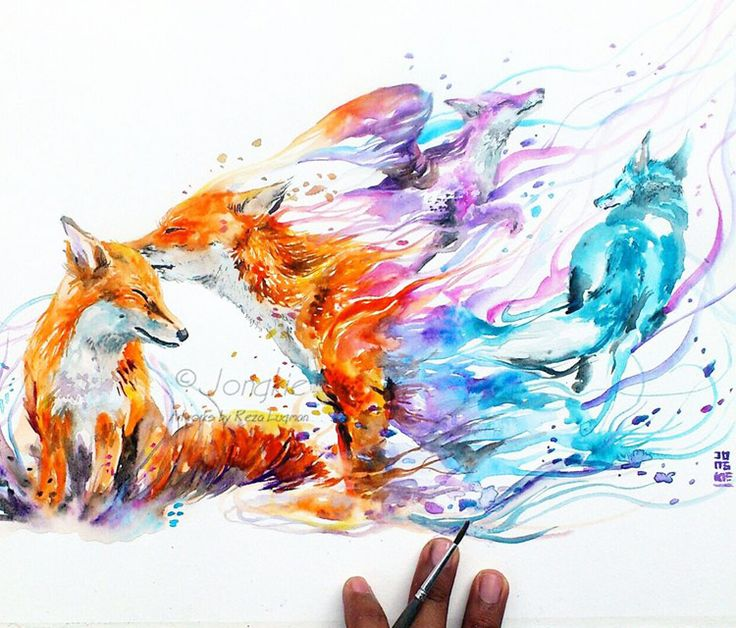 Watercolor animal tumblr