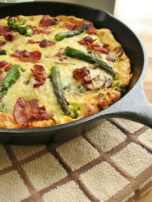 ... This has got to be the ultimate!!Asparagus, Mushroom and Bacon Popover