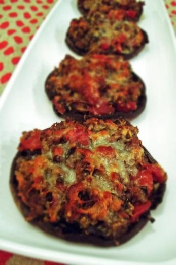 Stuffed Portabella Mushrooms (using gluten free bread crumbs)