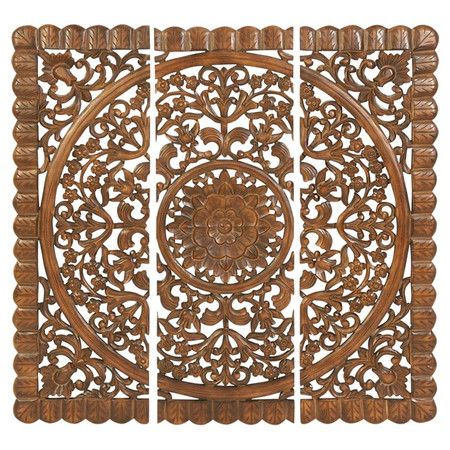 -piece Moroccan-style latticed wall plaque set. Product: 3 Piece wall ...