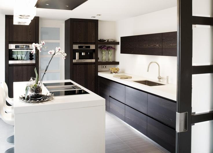 keuken + schiereiland  Kitchen  Pinterest