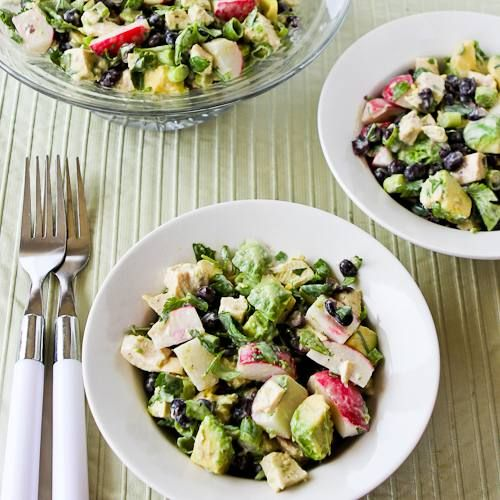 Chicken, Black Bean, Avocado, and Radish Salad with Lime and Cilantro ...