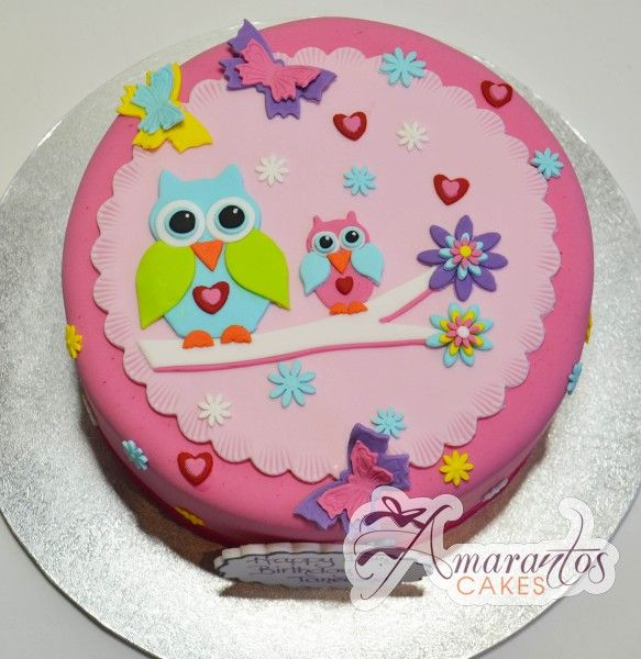 Owl cake, round baby shower ideas Pinterest