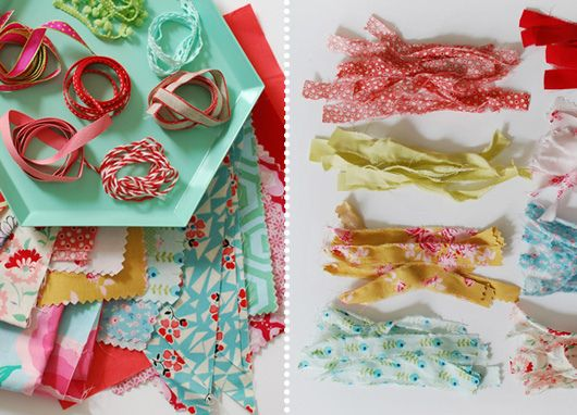 Make Me: Pretty Scrap Fabric Tassels by decor8, via Flickr