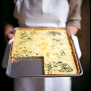 ... quiche instead of on a bagel? We like to use a half sheet pan to make