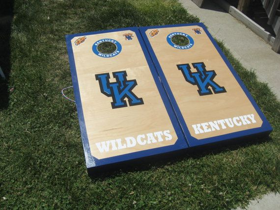 Kentucky Wildcats Cornhole Boards And Bags Regulation Size