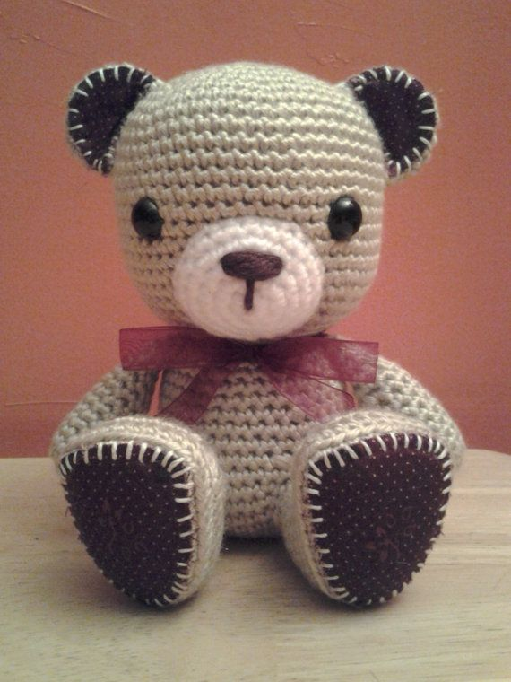 Crochet Teddy Bear Amigurumi : Crochet Amigurumi - Crochet Teddy Bear - Handmade Crochet ...