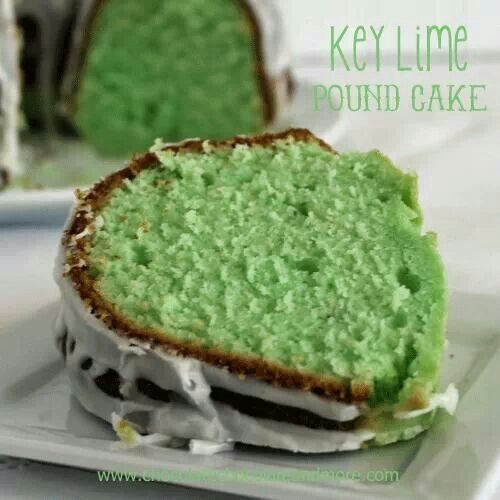 Key lime pound cake | Pound Cakes | Pinterest