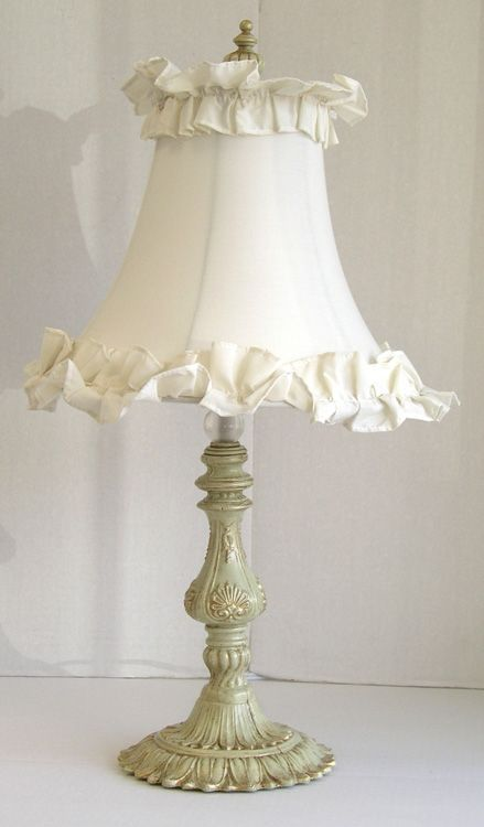 shabby chic table lamp lamps shades pinterest. Black Bedroom Furniture Sets. Home Design Ideas