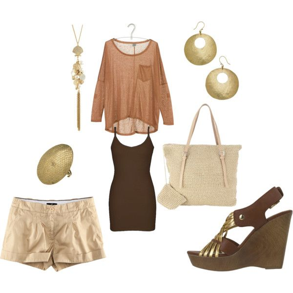 Shades of Brown w/ gold accents,