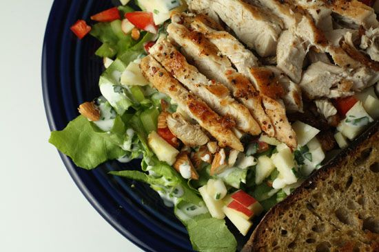 Waldorf Salad with Chicken and Buttermilk Dressing