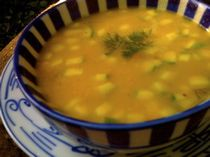 Creamy Vegan Summer Squash Soup with Dill