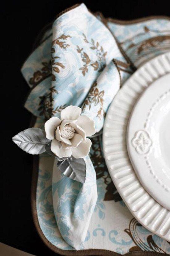 кольцо для салфетки в виде розы