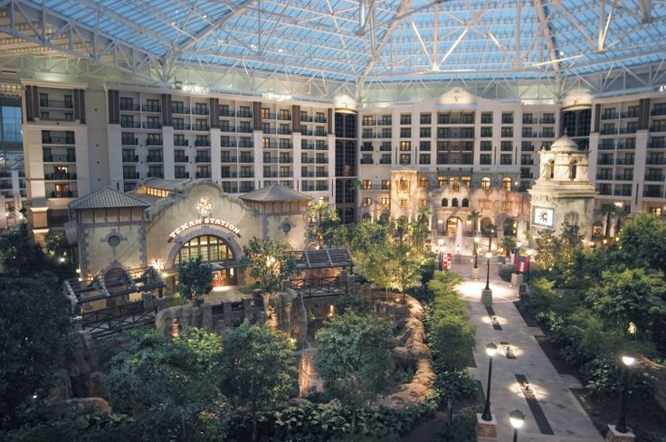 Atrium View Of The Gaylord Texan Resort Hotel