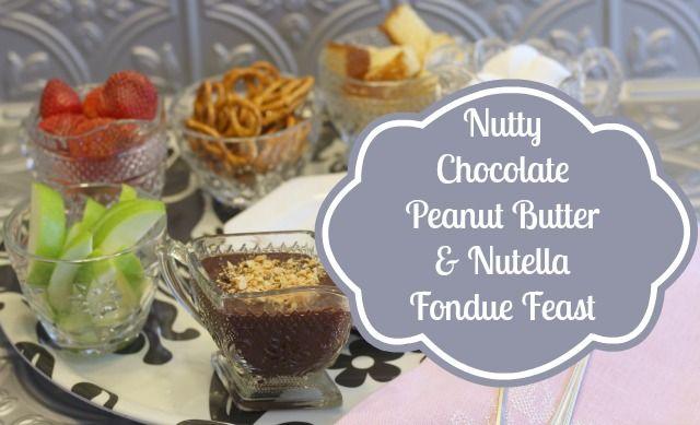 Nutty Chocolate & Peanut Butter Fondue | Recipe