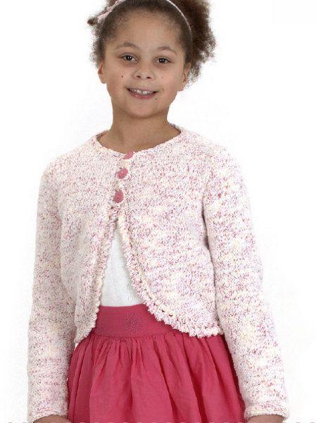 Peter Pan Cupcake Girls Bolero Knitting Pattern 1151
