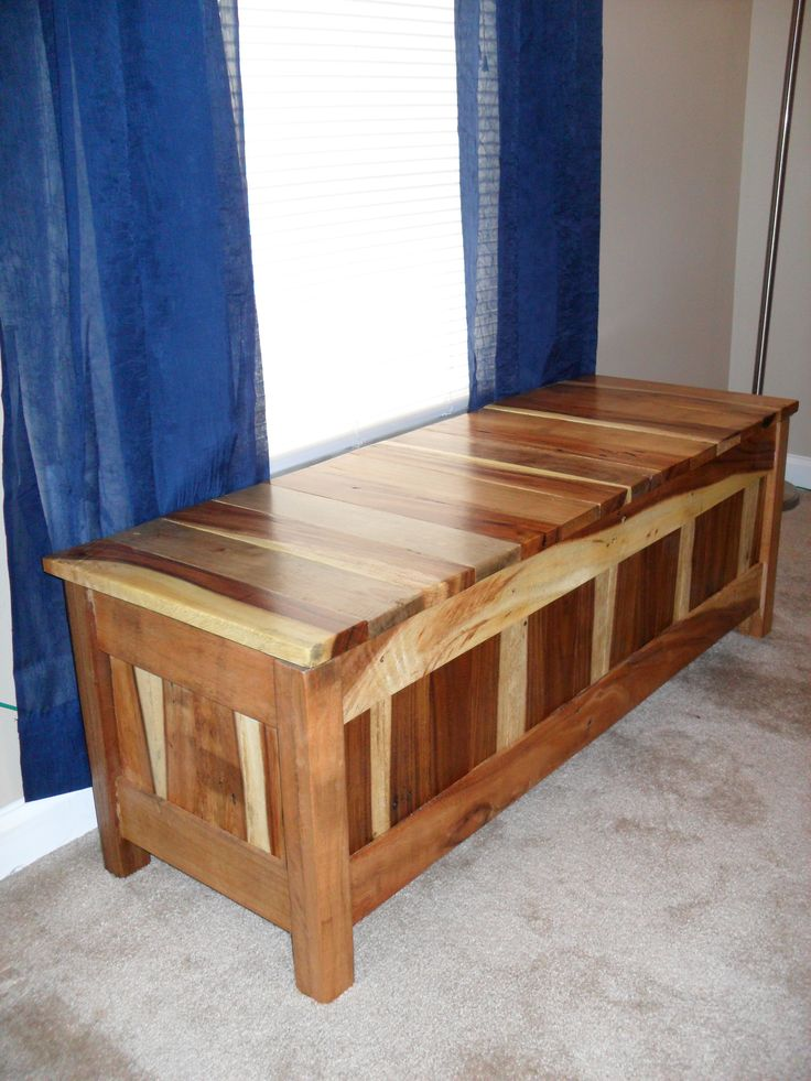 Pallet Storage Bench Window Seat Home Pinterest