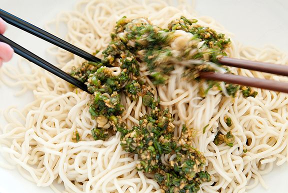 ginger scallion noodles recipe | use real butter
