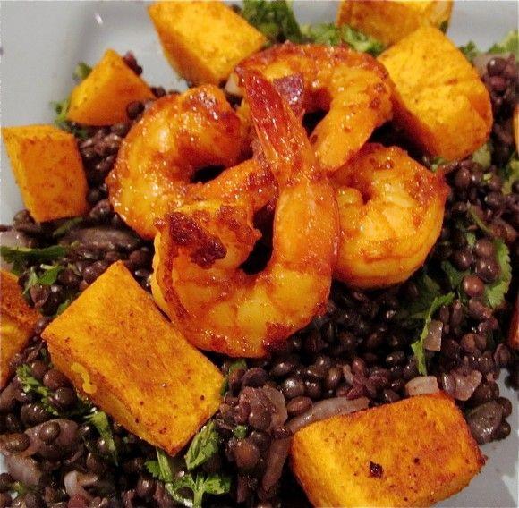 Beluga Lentils and Shrimp | Lunch & Dinner | Pinterest