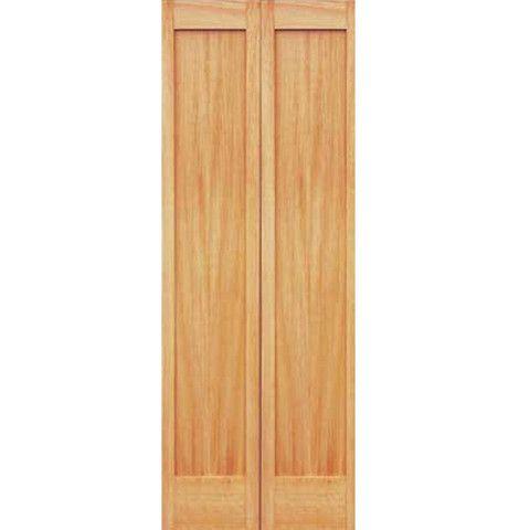 1 panel unfinished pine shaker bi fold door for 1 panel shaker door