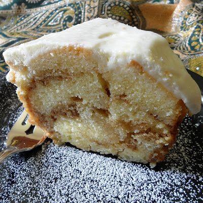 Cinnamon Swirl Pound Cake with Cream Cheese Glaze