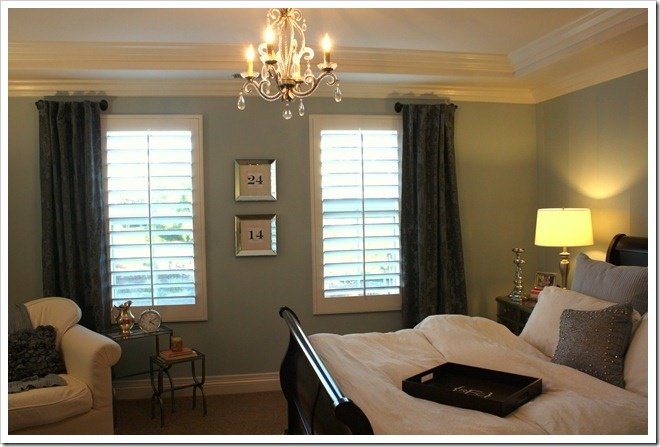 Short curtain rods, instead of putting up a whole rod. I like the idea ...