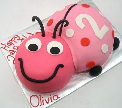 Pink lady bug cake | Baby girl stuff | Pinterest