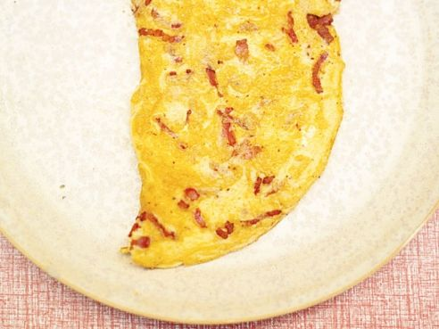 Bacon and cheese omelette | Recipes | Pinterest